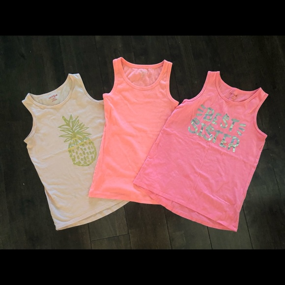 3 for $15 pink Cat & Jack tank tops